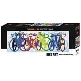 Heye- Puzzle Panorama Colourful Row 1000 Pièces, 29737, Multicolore