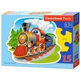 Castorland - B-015153 - Puzzle - Locomotive à Vapeur - 15 Pièces