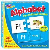 Fun to Know 333G Puzzle 52pièces Lettres de l'alphabet Blanc