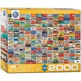 Eurographics 8220-1988,8cm Volkswagen Groovy Bus Collage Puzzle (2000pièces)