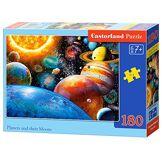 Castorland B-018345des planètes et de Leurs lunes Puzzle, 180