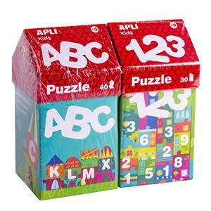 Apli kids 18776-Kit spécial Puzzles Casitas éducatifs ABECEDARIO + numéros (14805+14806) (18776) - Publicité