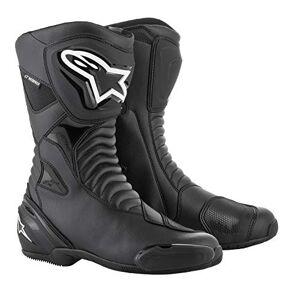 Alpinestars Bottes Moto  SMX S Waterproof Black Black, Noir/Noir, 45 - Publicité