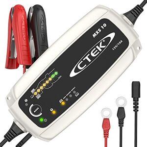 CTEK MXS 10 Chargeur de batterie entirement automatique (Charge, maintient et reconditionne les batteries auto, roulotte, camping-car) 12V, 10 Amp  prise EU - Publicité