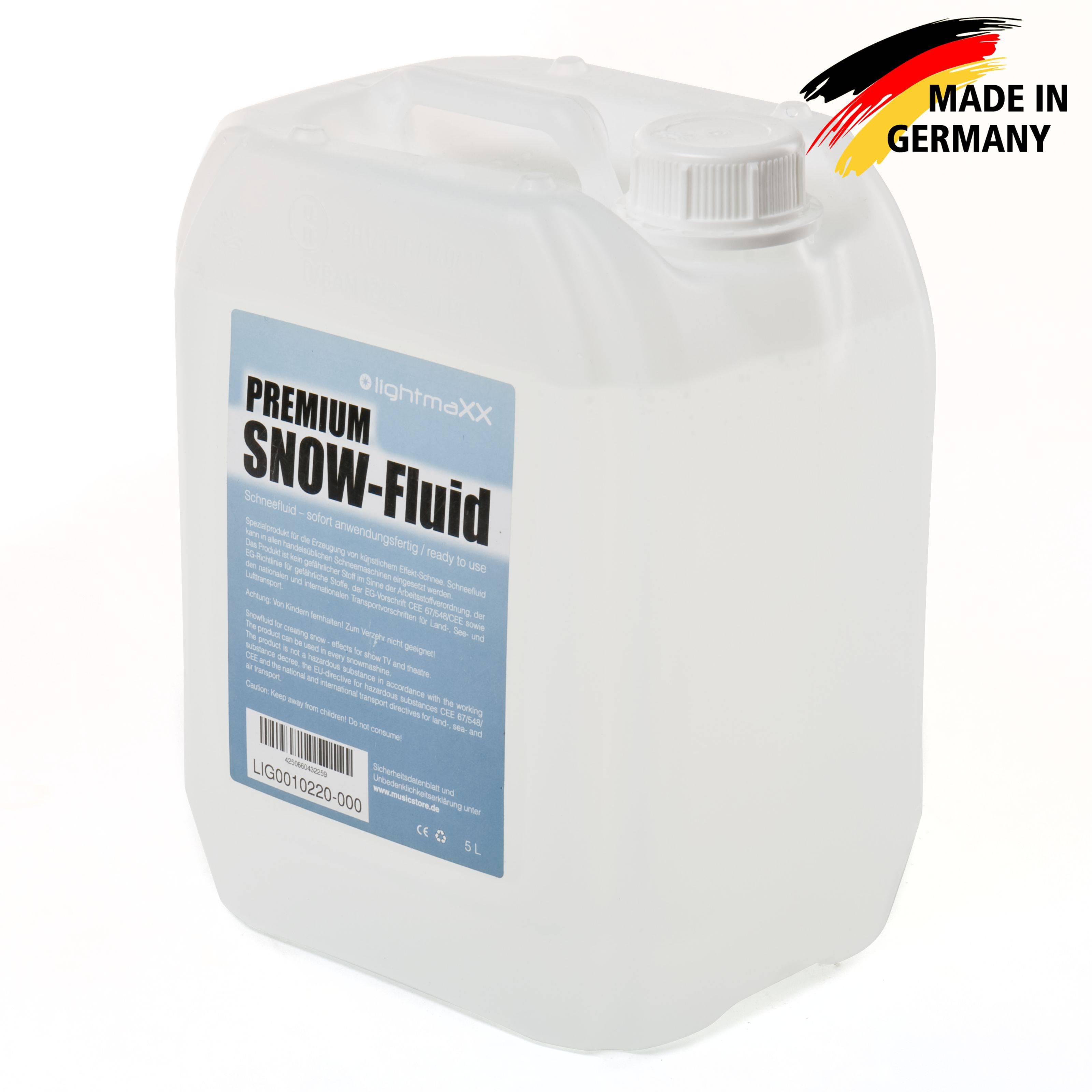 lightmaXX Premium SNOW FLUID 5L, liquide neige, 1l=2,58 EUR