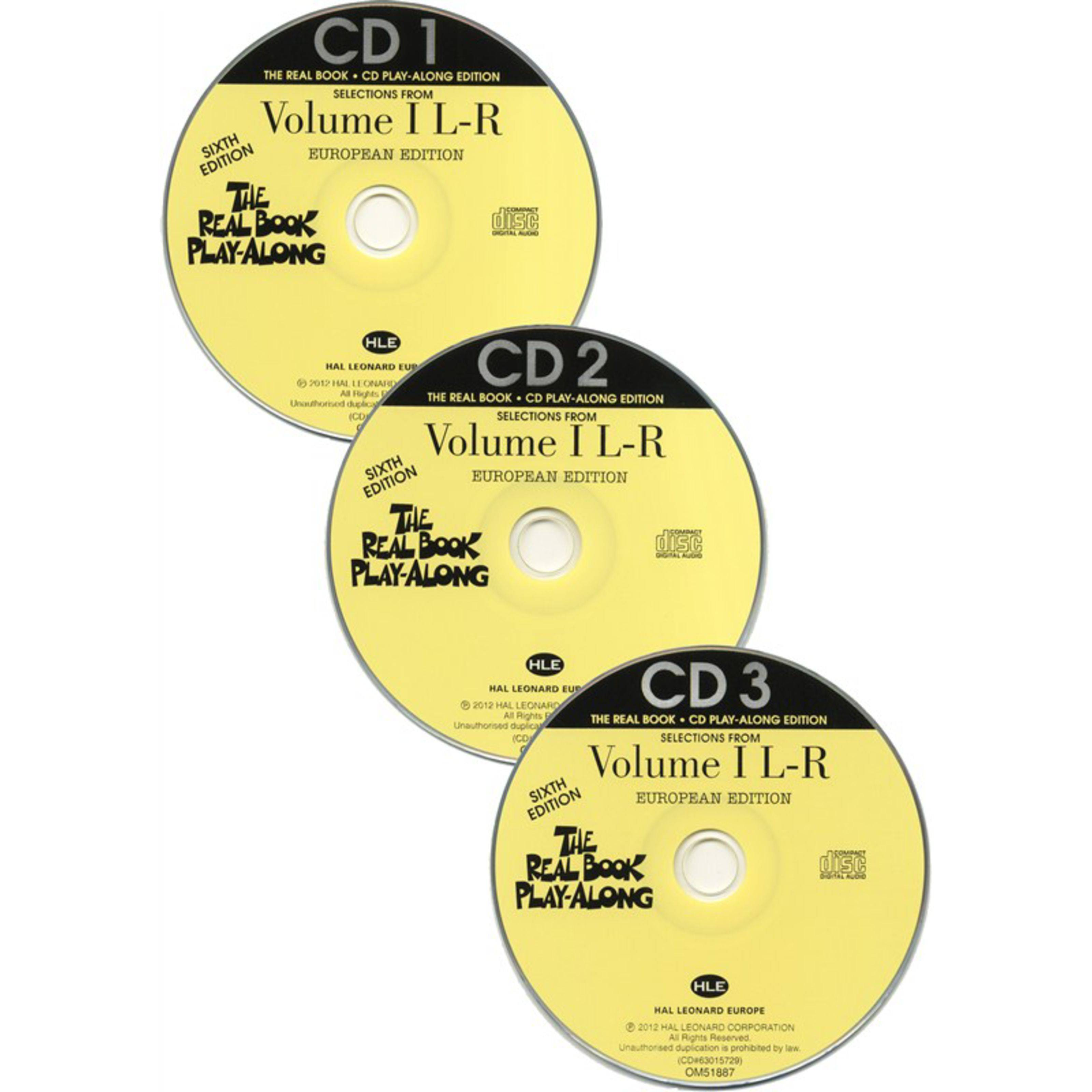 Hal Leonard The Real Book Playalong L-R Sixth Edition - Vol.1, 3 CDs