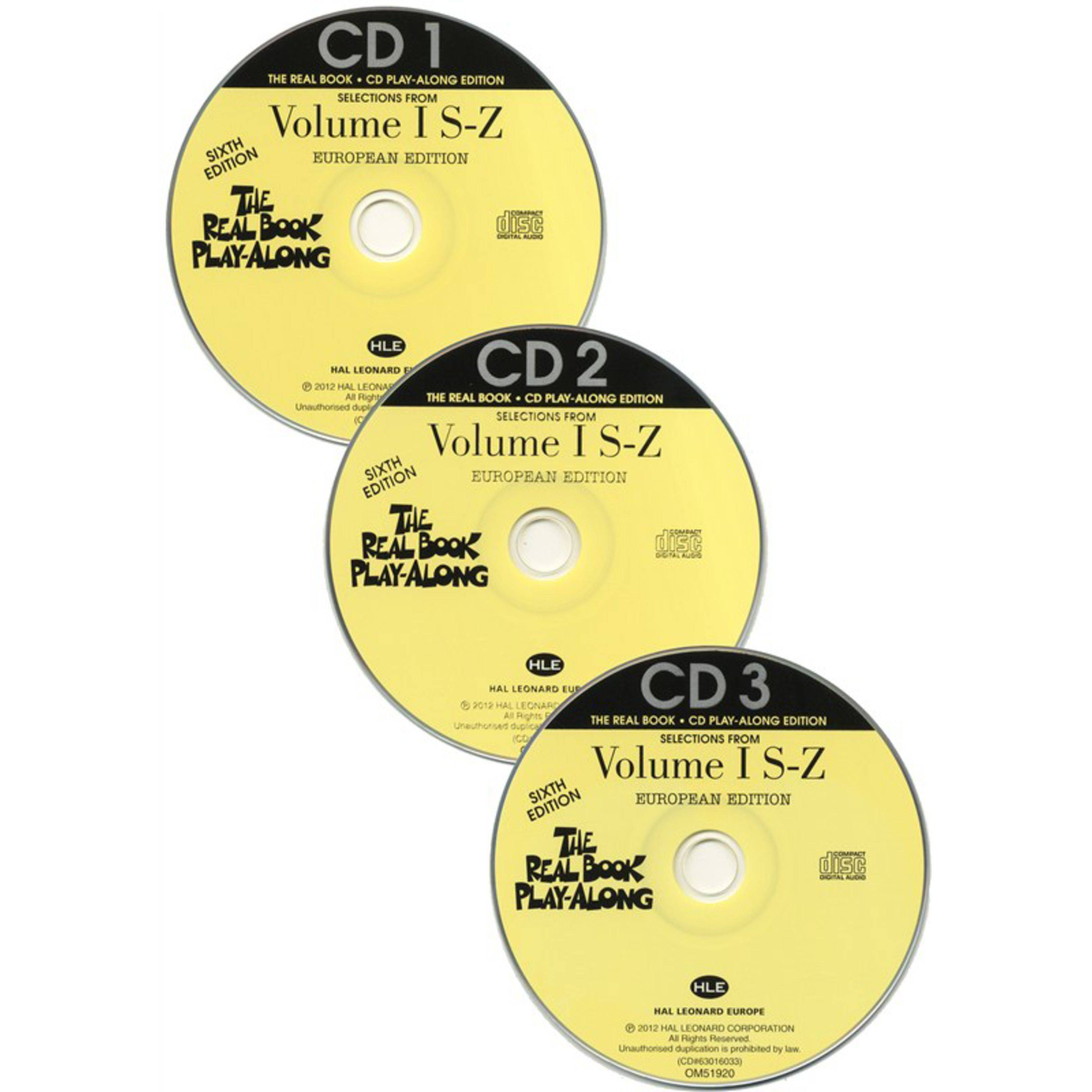 Hal Leonard The Real Book Playalong S-Z Sixth Edition - Vol.1, 3 CDs