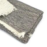 Linnea Plaid chiné crêpe 145x175 cm 35% laine mérinos 35% acrylique 30% coton 260 g/m2 TASMANIE Noir