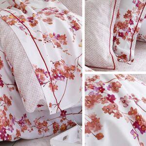 Linnea Drap plat 280x325 cm satin de coton BLOSSOM rouge ocre