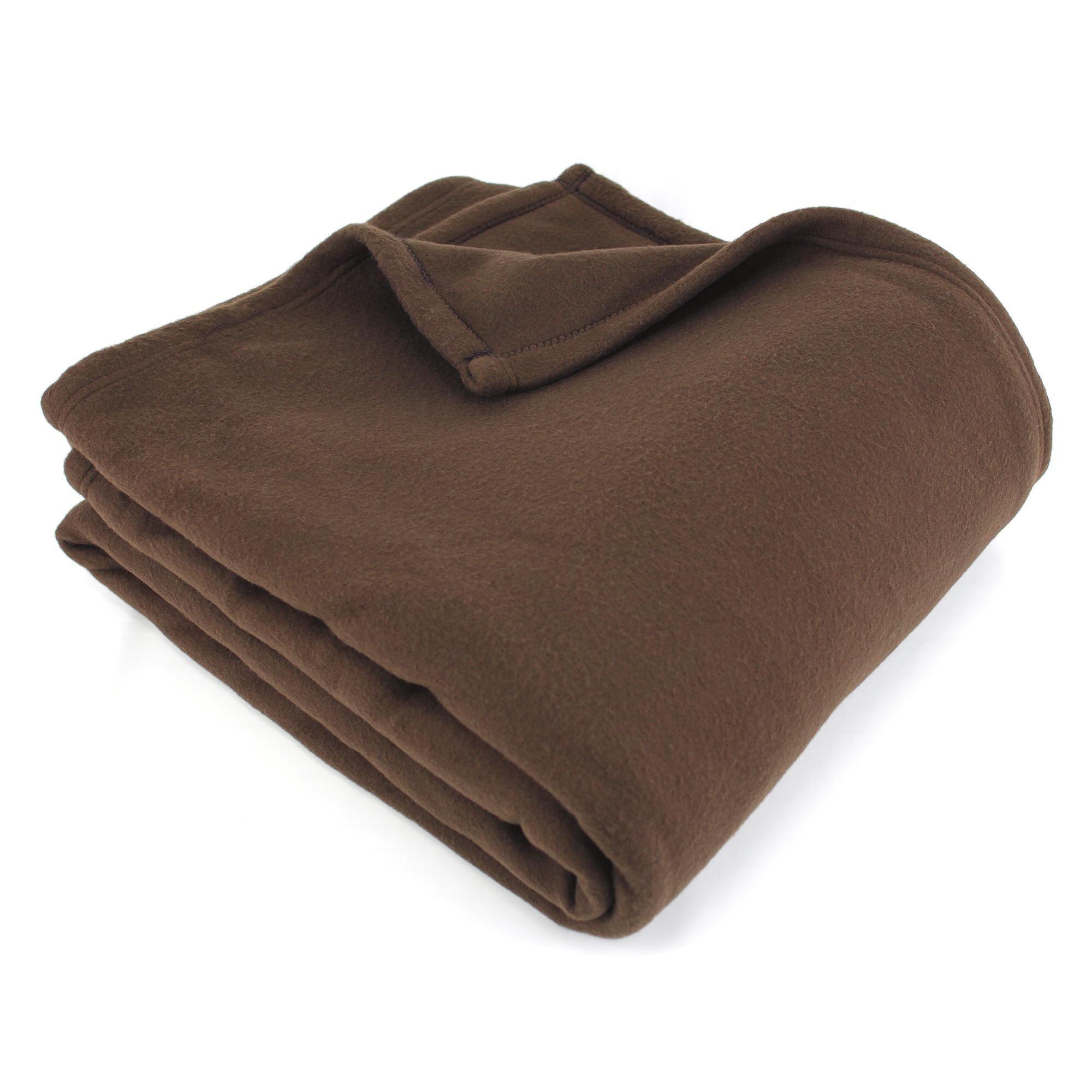 Linnea Couverture polaire 240x260 cm 100% Polyester 350 g/m2 TEDDY Marron Chocolat