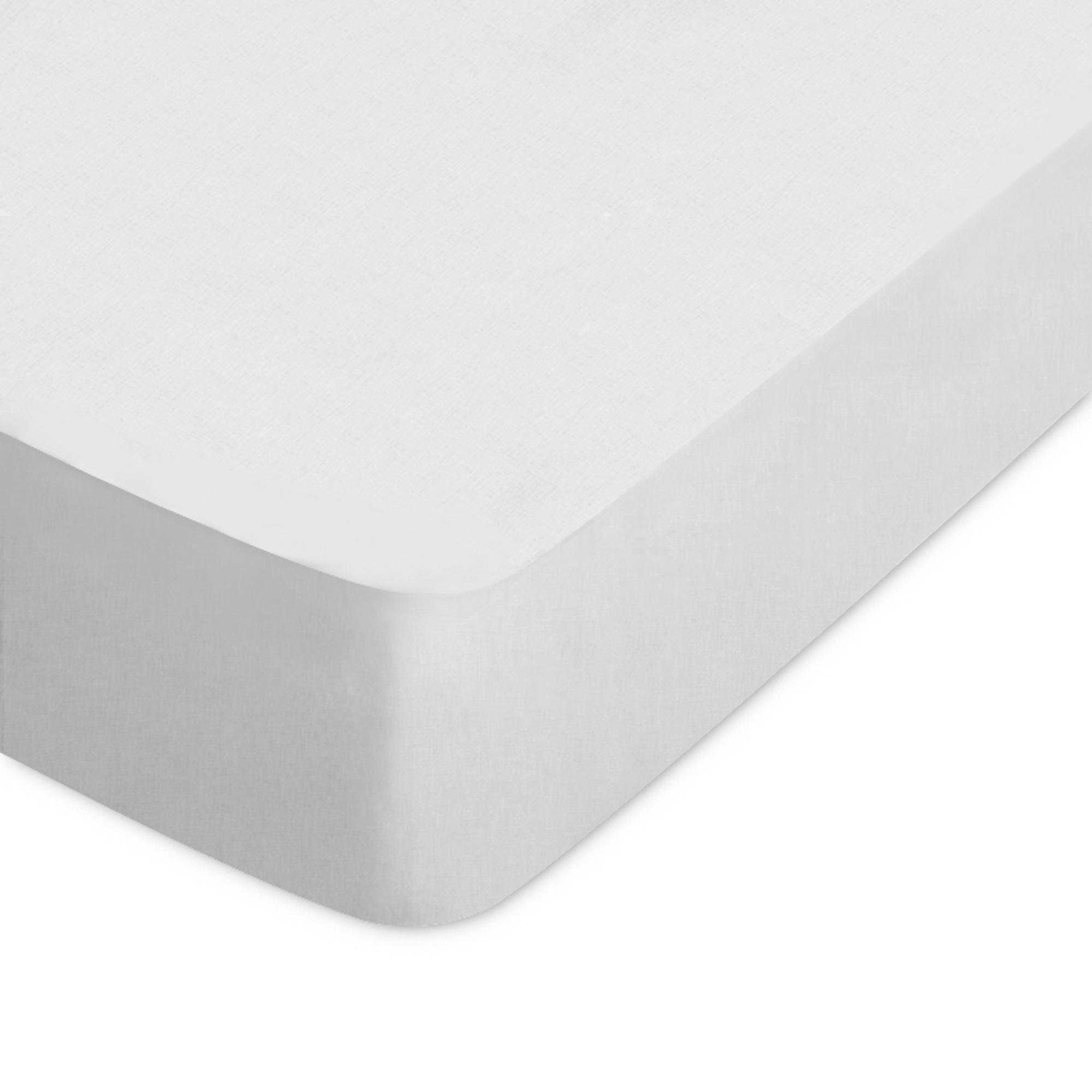 Linnea Drap housse uni 100x190 cm bonnet 50 cm 100% coton ALTO gris calcium