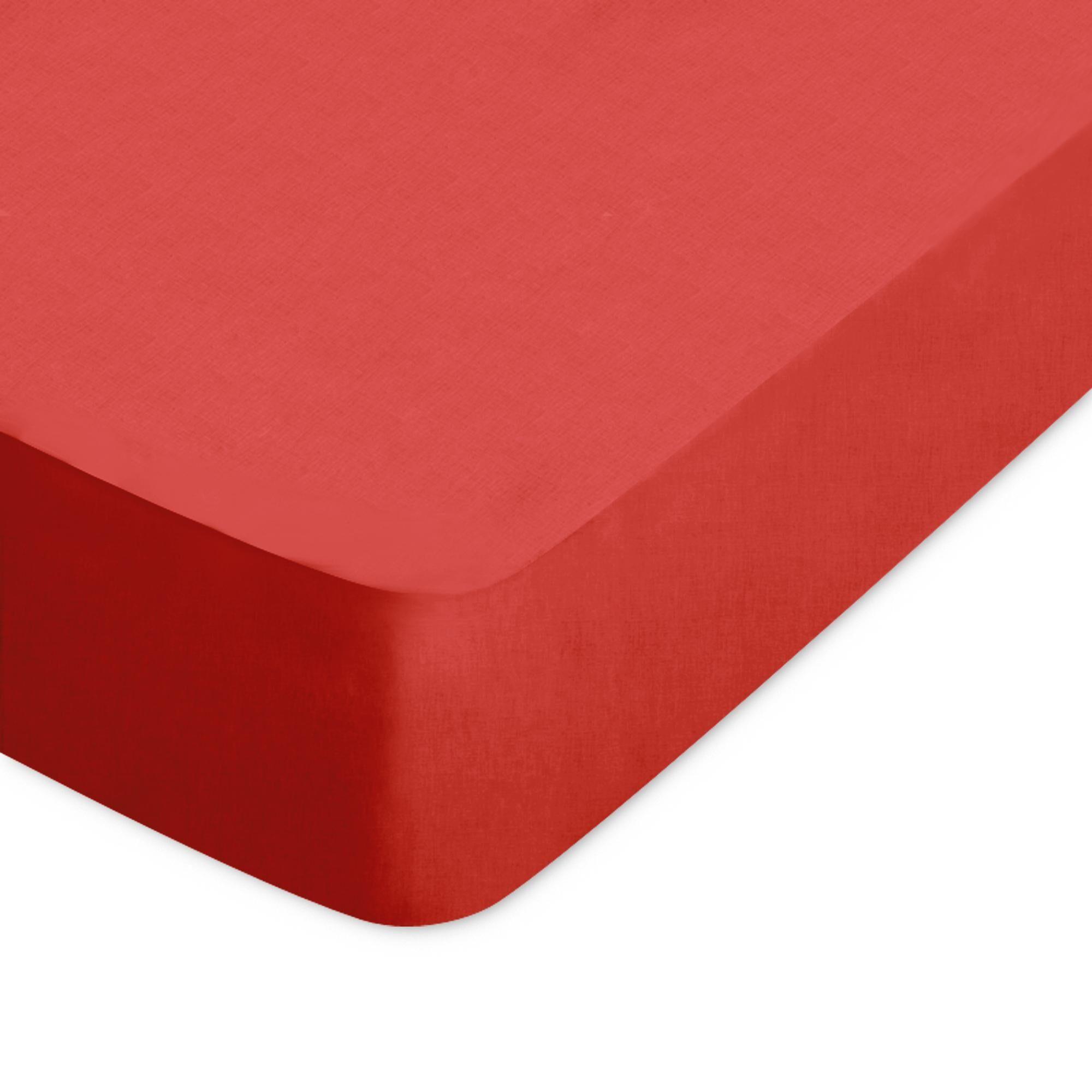 Linnea Drap housse uni 220x220 cm 100% coton ALTO orange Baie de Goji