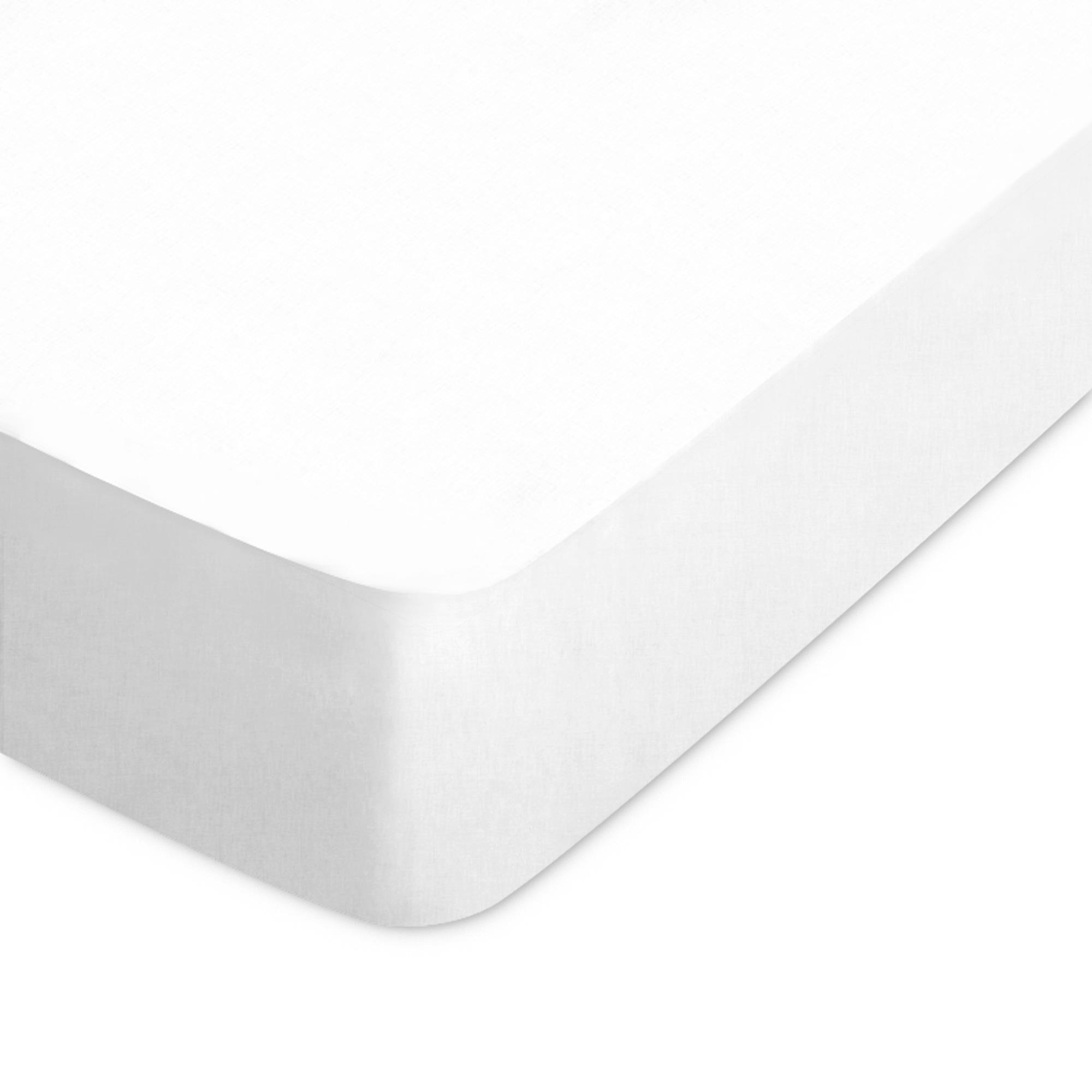 Linnea Drap housse uni 60x120 cm 100% coton ALTO Blanc