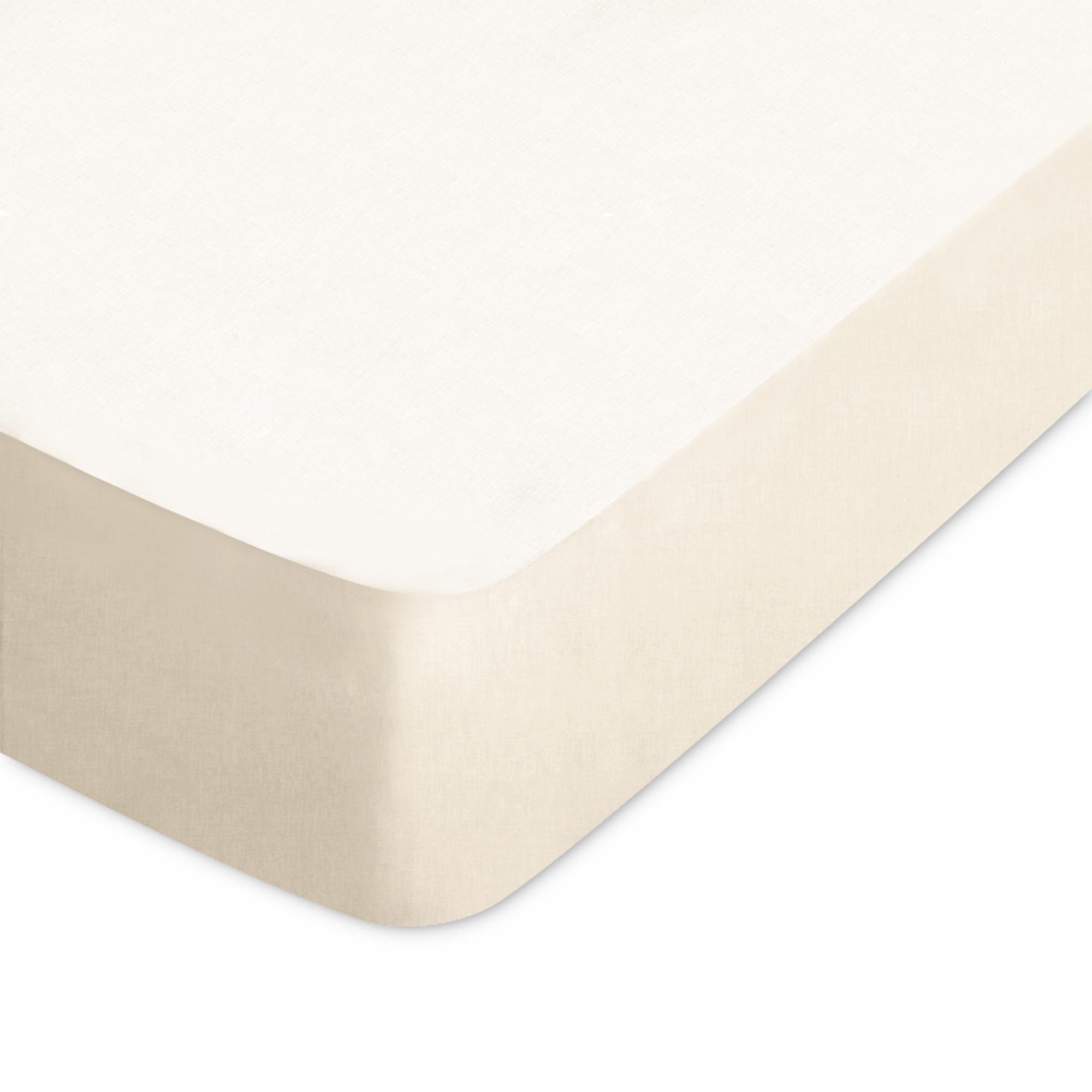 Linnea Drap housse uni 60x120 cm 100% coton ALTO Crème