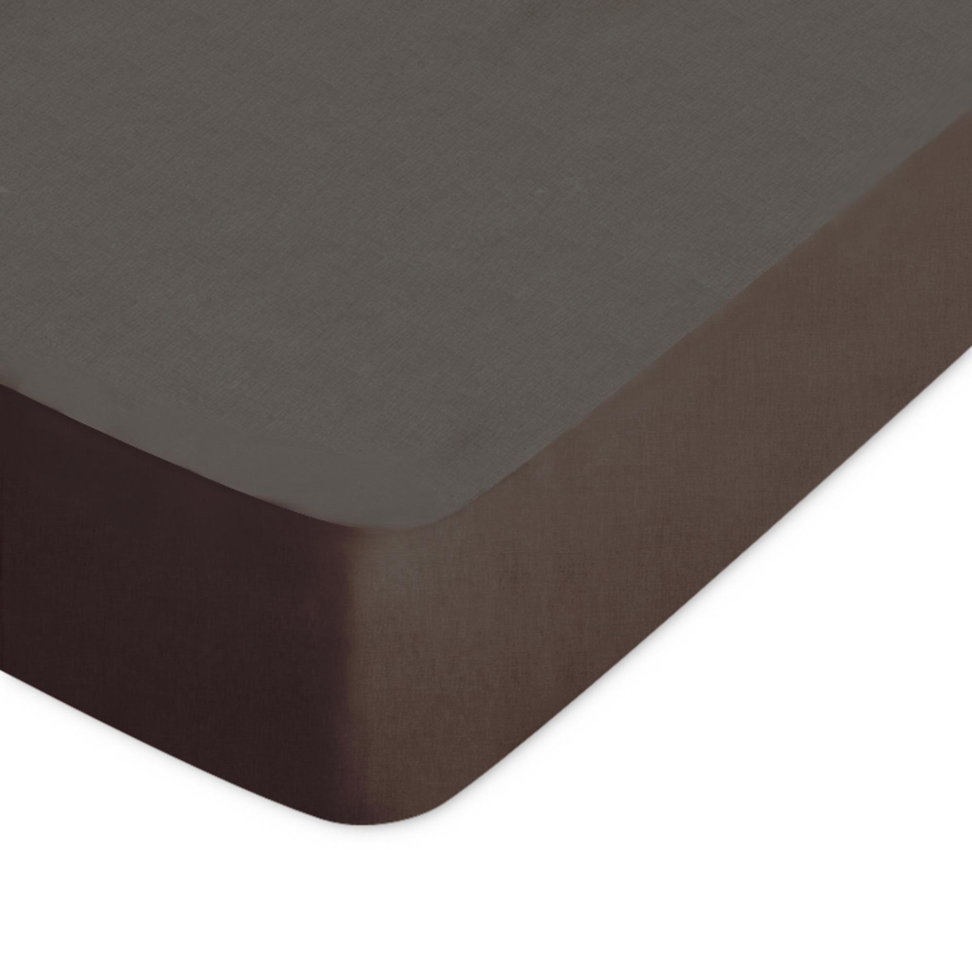 Linnea Drap housse uni 60x120 cm 100% coton ALTO Manganese