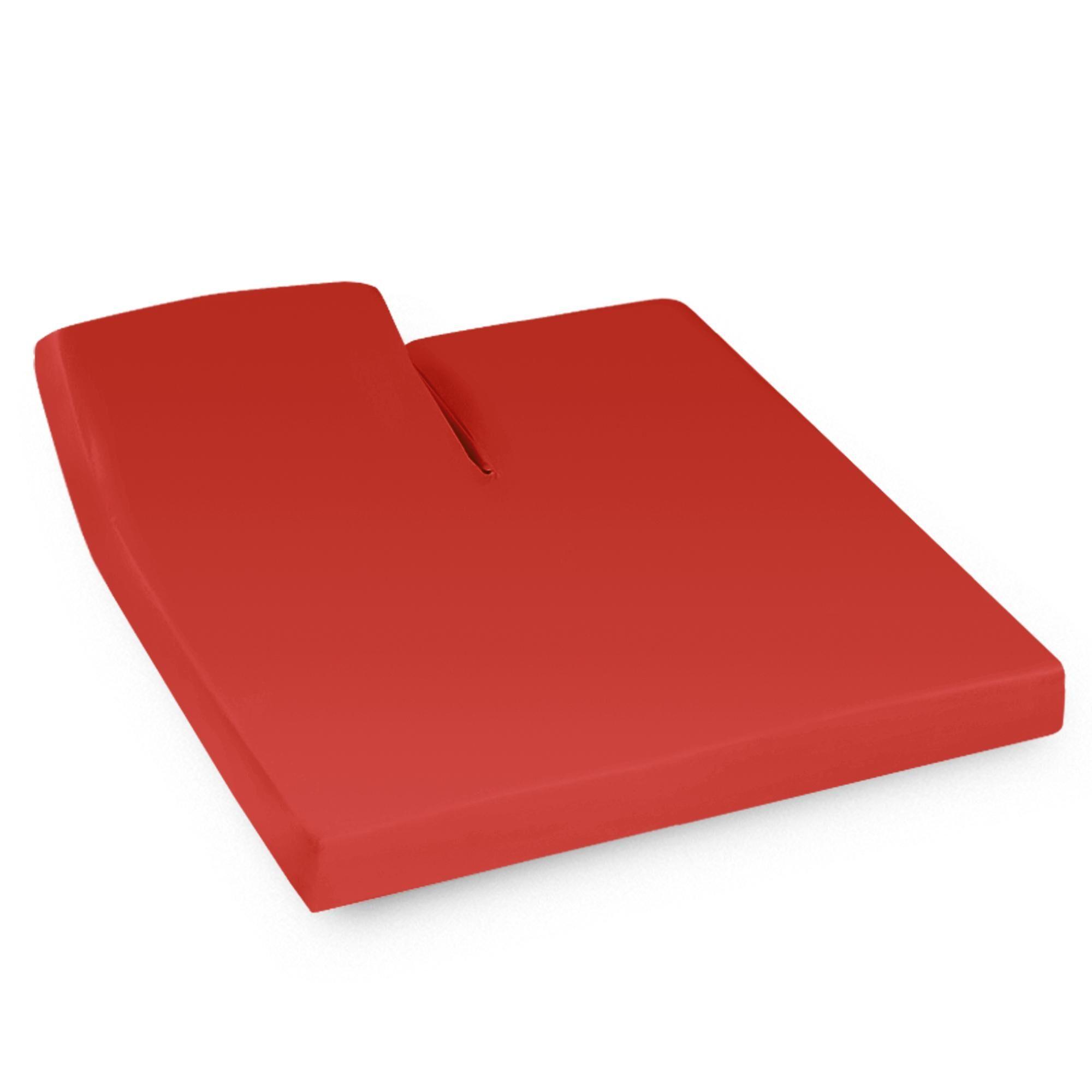 Linnea Drap housse relaxation uni 2x100x190 cm 100% coton ALTO orange Baie de Goji TR Tête relevable uniquement