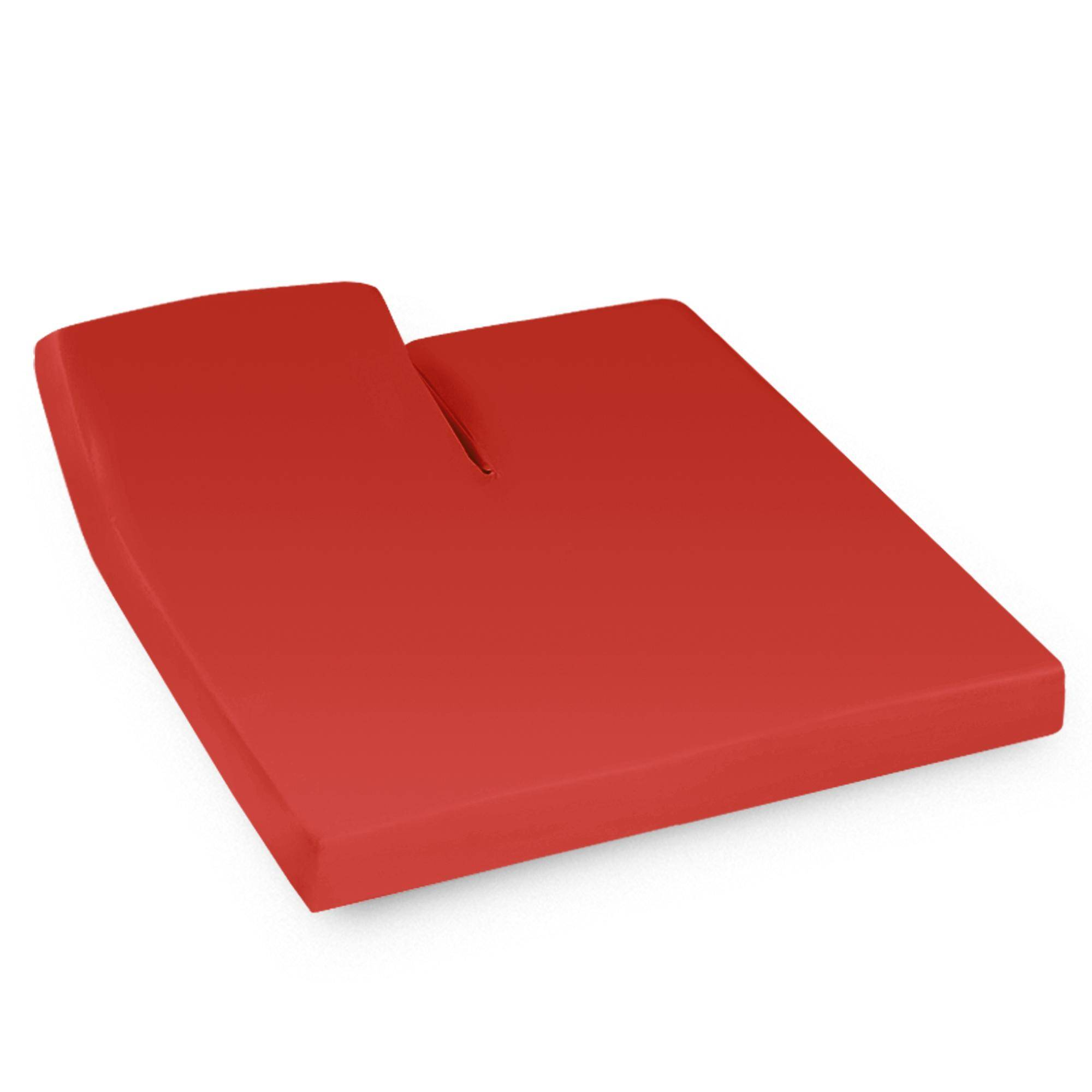 Linnea Drap housse relaxation uni 2x70x190 cm 100% coton ALTO orange Baie de Goji TR Tête relevable uniquement