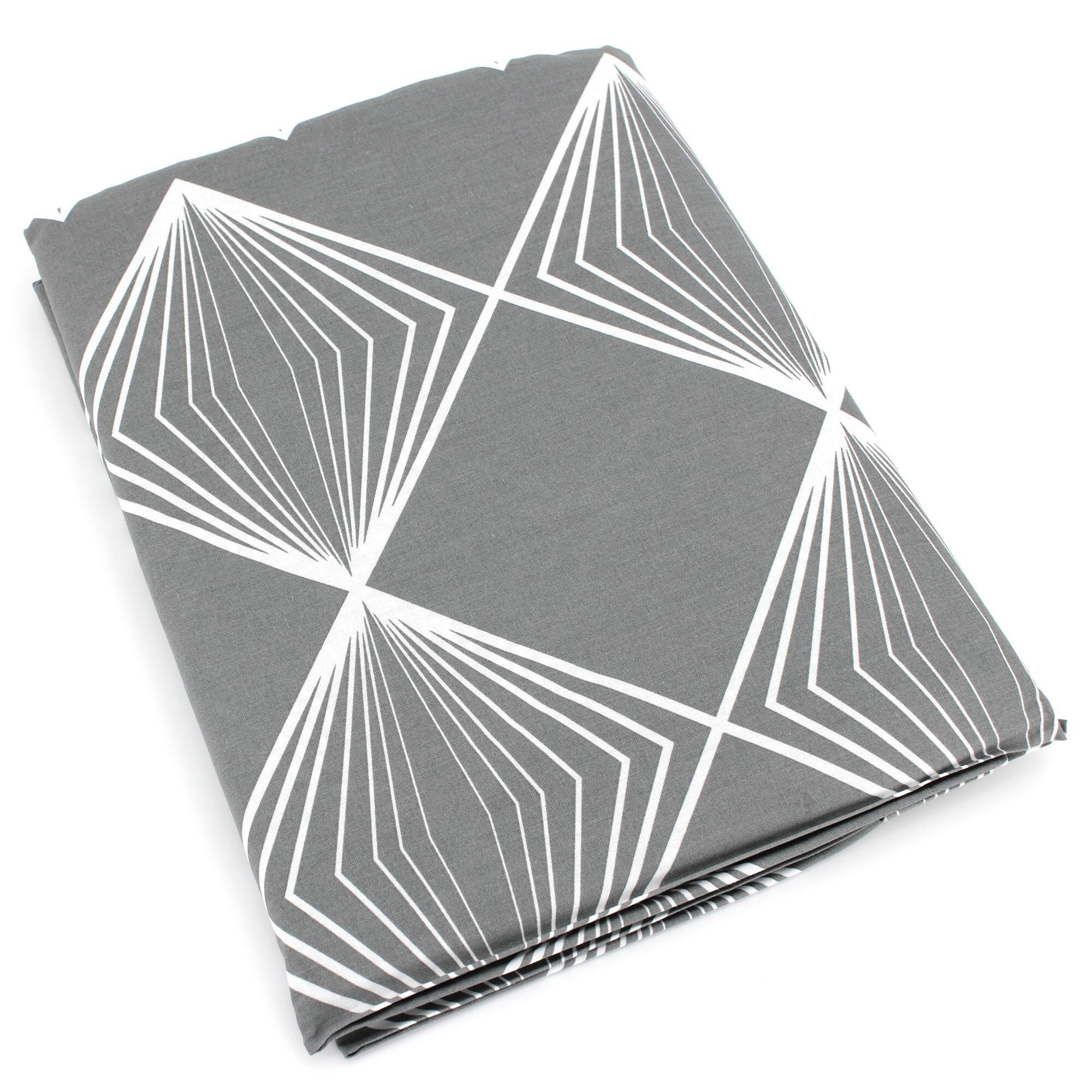 Linnea Drap plat 280x310 cm 100% coton FOREVER GRIS gris foncé