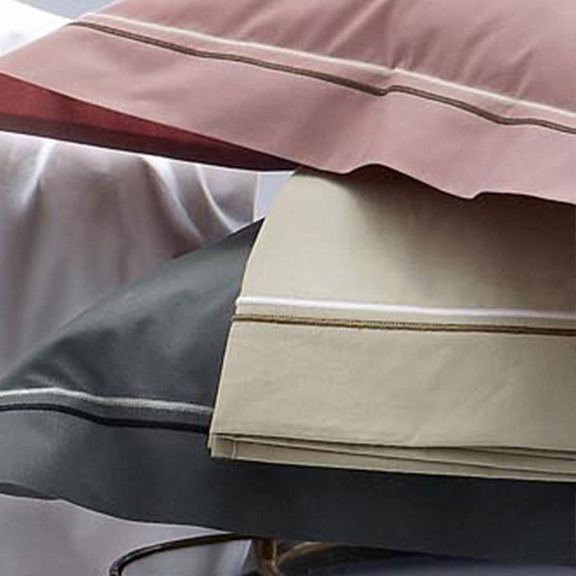 Linnea Taie d'oreiller 40x40 cm uni Percale pur coton HOTEL DE PARIS Lin