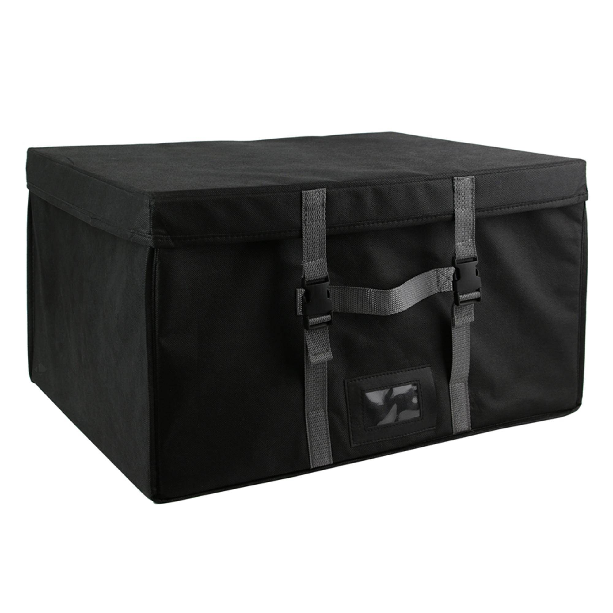 Linnea Malle de rangement rigide et sac compresseur d'air 150L noir