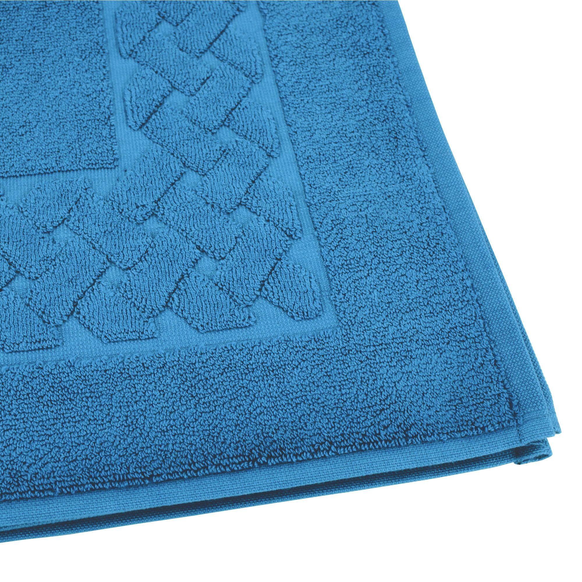 Linnea Tapis de bain 50x80 cm ROYAL CRESENT Bleu Céleste 850 g/m2