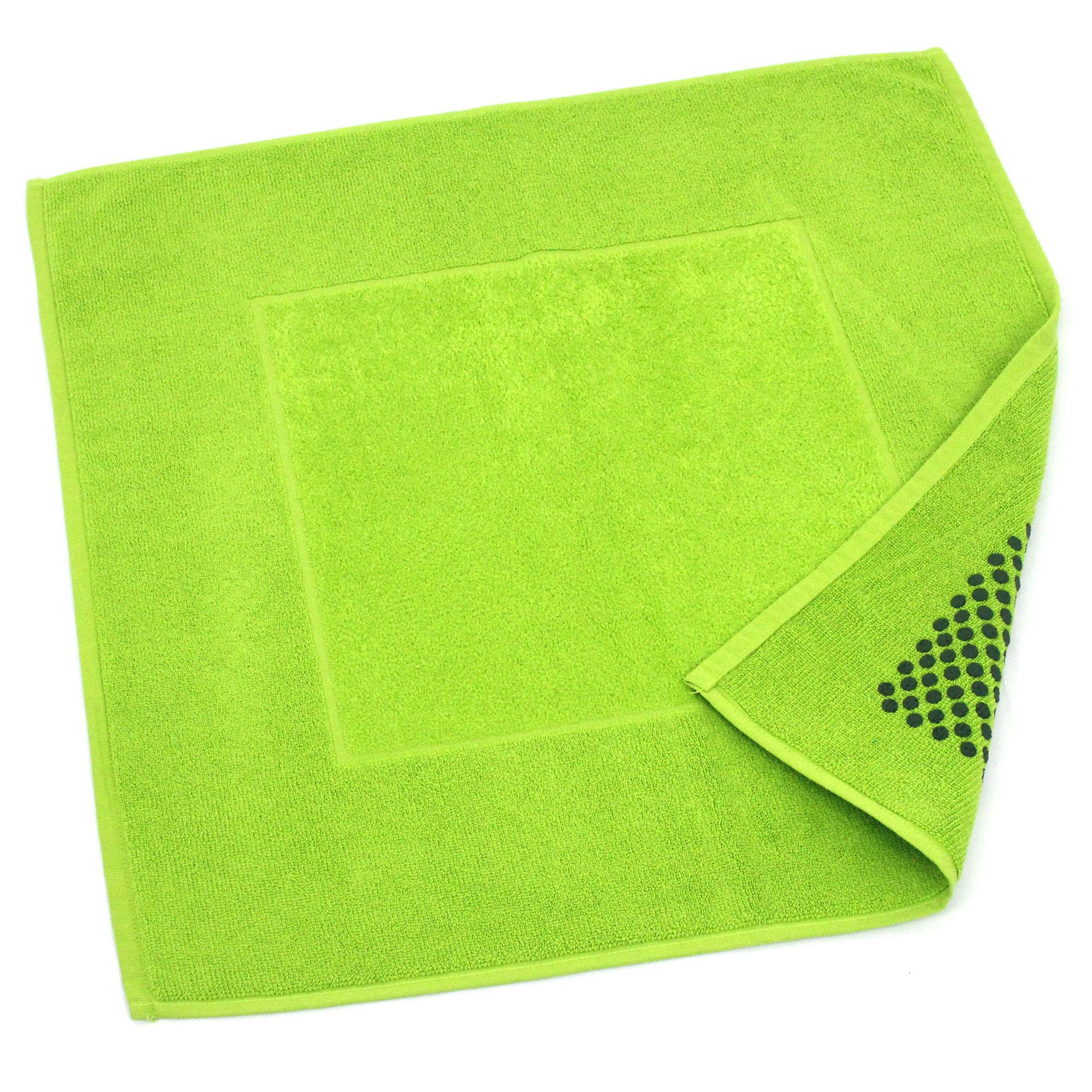 Linnea Tapis de bain antidérapant 60x60 cm velours PRESTIGE vert Pistache