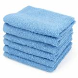Linnea Lot de 6 serviettes invité 30x50 cm ALPHA bleu Ciel