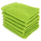 Linnea Lot de 6 serviettes invité 30x50 cm ALPHA vert Pistache