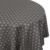 Linnea Nappe ovale 180x240 cm imprimée 100% polyester PACO géométrique gris Poivre