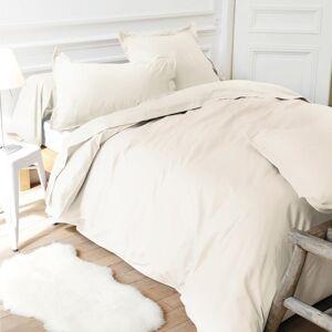 Linnea Drap housse relaxation uni 2x70x210 cm 100% coton ALTO Crème TPR Tête et pied relevable - Publicité
