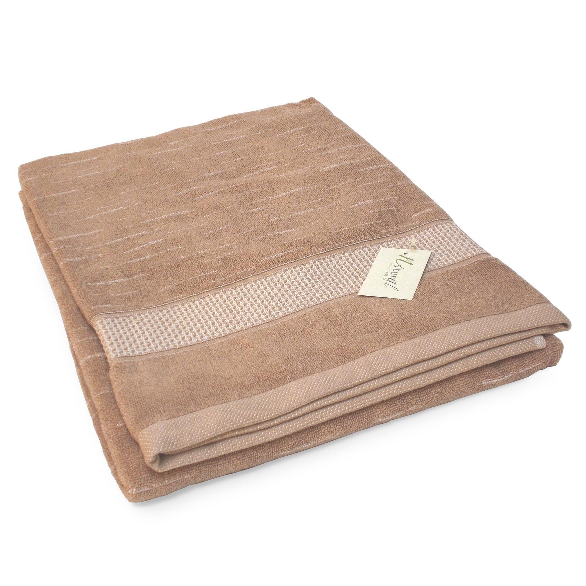 Linnea Drap de bain 90x200 cm FICUS Marron 500 g/m2 pur coton bio