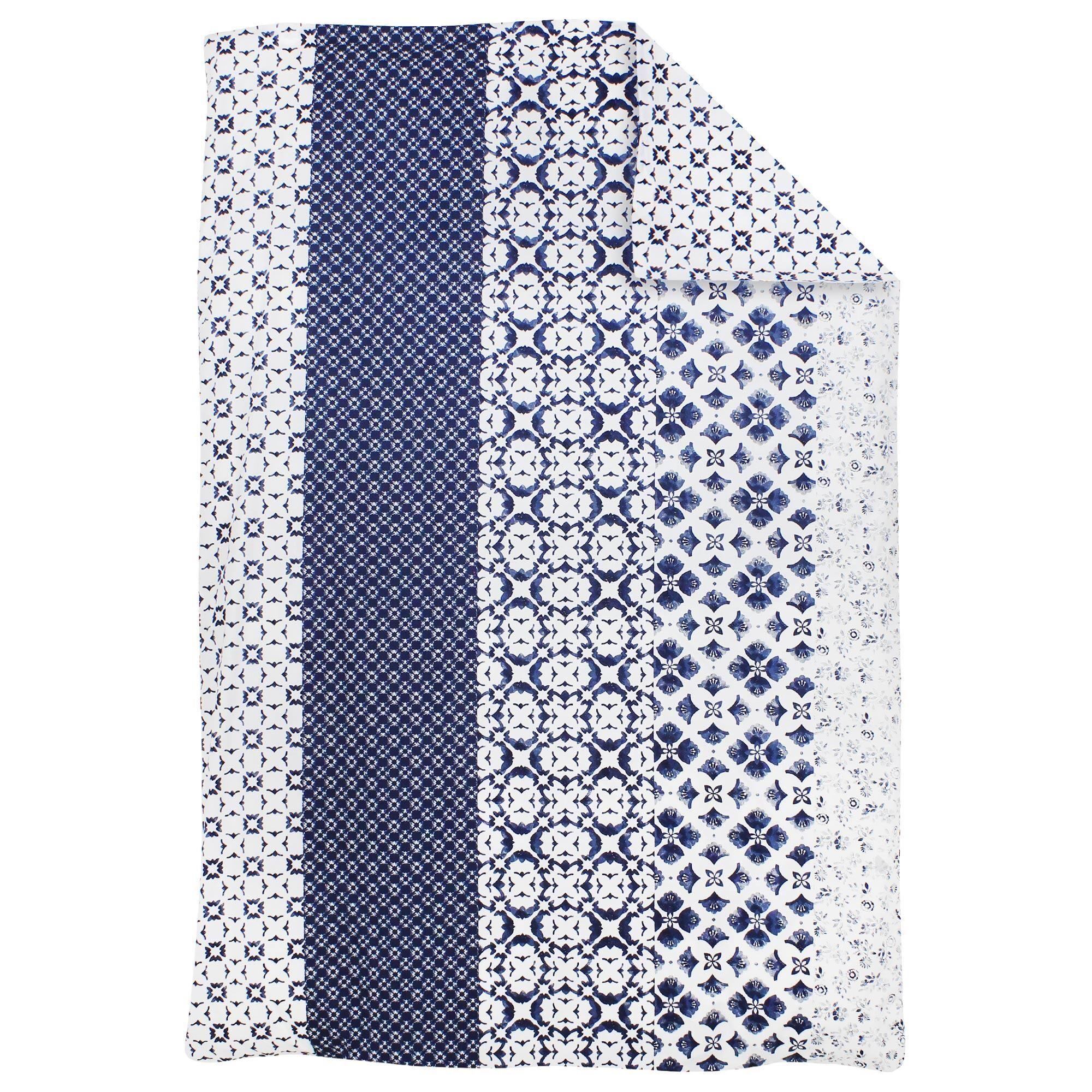 Linnea Housse de couette 140x200 cm 100% coton PADANG bleu