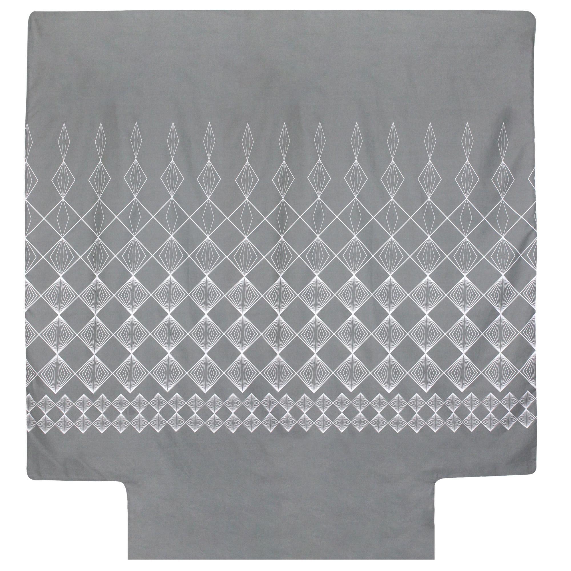 Linnea Housse de couette 200x200 cm 100% coton FOREVER GRIS gris foncé
