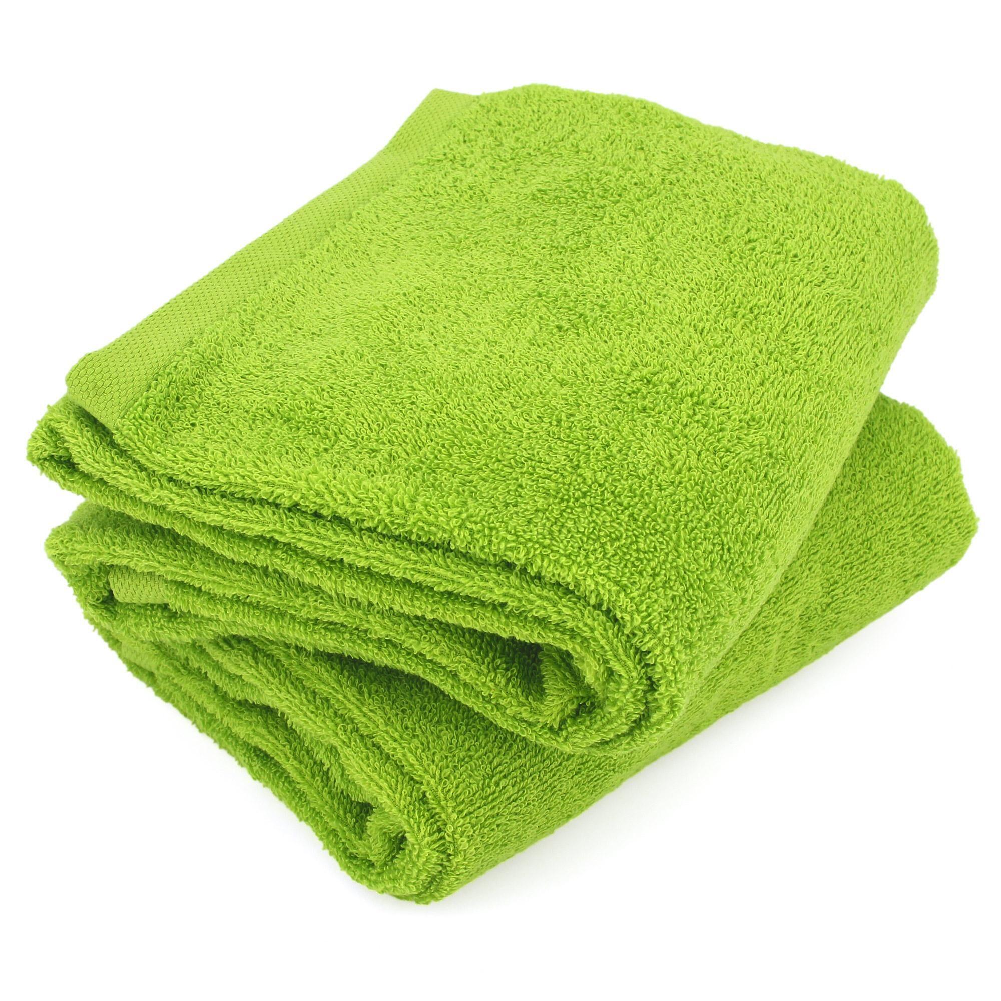 Linnea Lot de 2 draps de douche 70x130 cm ALPHA vert Pistache