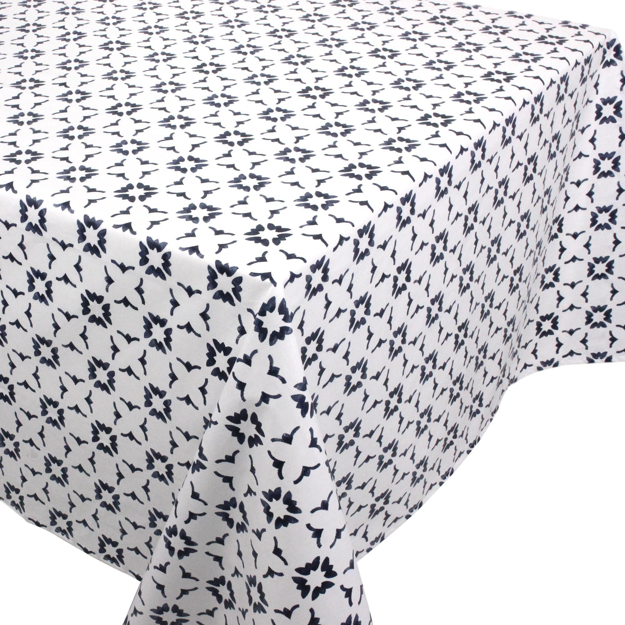 Linnea Nappe carrée 170x170 cm 100% coton enduction acrylique BELEM blanc