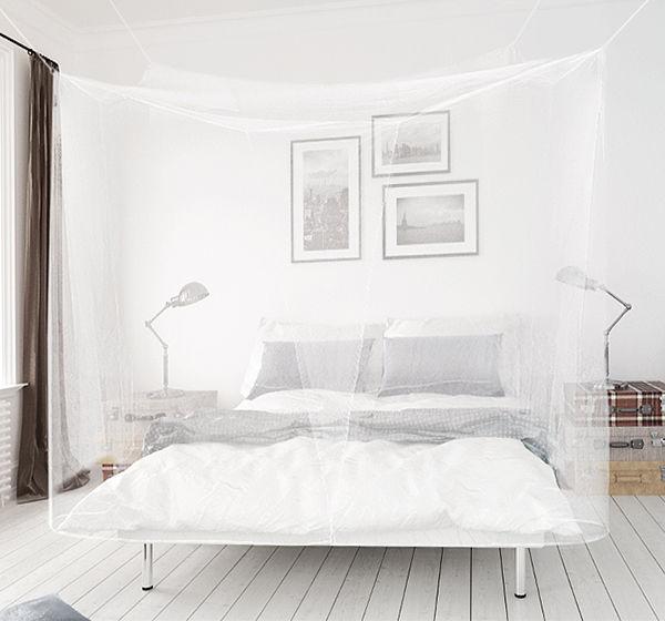 AVOSDIM Moustiquaire baldaquin rectangulaire pour lit double universel