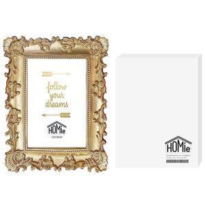 Homie Κορνίζα Polyresin Αντικέ 13x18εκ. Homie 12-1888 (Υλικό: Polyresin, Χρώμα: Χρυσό ) - Homie - 12-1888
