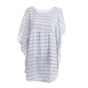 ble Μπλούζα Καφτάνι One Size Ble 5-41-003-0009 (Ύφασμα: Polyester, Χρώμα: Λευκό) - ble - 5-41-003-0009