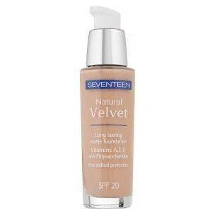 SEVENTEEN MAKE UP SEVENTEEN NATURAL VELVET LONGLASTING MATTE FOUNDATION NO 70 - LIGHT CAMEL SPF20 30ML