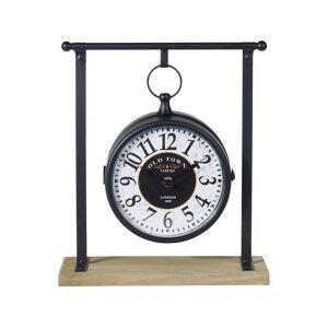 Aria Trade Επιτραπέζιο Ρολόι Αναλογικού τύπου σε μαύρο χρώμα, 27x10x31 cm - Aria Trade