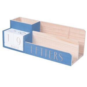 Aria Trade Οργανωτής Γραφείου με Ημερολόγιο και 3 κουτάκια αποθήκευσης, 23x10x11 cm Μπλε - Aria Trade