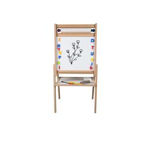 Aria Trade Παιδικός Μαυροπίνακας 2 όψεων με λευκό χαρτί ζωγραφικής και αποθηκευτικό χώρο, 52x44x105 cm - Aria Trade