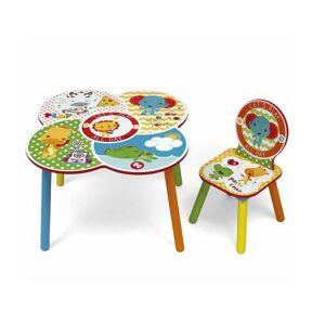Fisher Price Τραπεζάκι και 1 καρέκλα, διαστάσεις 60x60x52 εκατοστά - Fisher Price