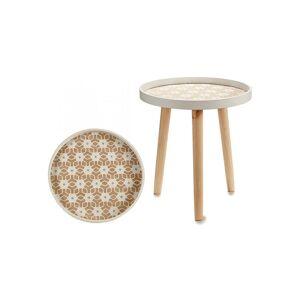Gift Decor Ξύλινο Στρογγυλό Τραπεζάκι σαλονιού με Τρίποδη βάση σε λευκό χρώμα, 35x35x38 cm - Gift Decor