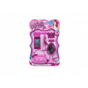 Cb Παιχνίδι Σετ Ομορφιάς 28x43cm με πλαστικό καθρέφτη για ηλικίες 3 και άνω σε ροζ χρώμα, 77-788 - Cb