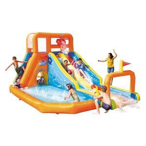 Bestway H2OGO! Waterpark Tsunami Waves Φουσκωτός Παιδότοπος με πισίνα, 2 τσουλήθρες και τοίχο αναρρίχησης για Εξωτερικό χώρο, 505x340x265cm - Bestway