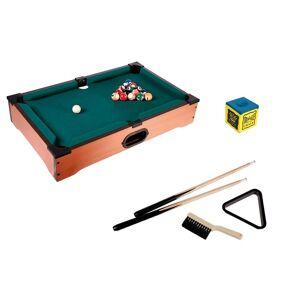 Out Of The Blue Ξύλινο επιτραπέζιο παιχνίδι μπιλιάρδο με 2 στέκες, 16 μπάλες, τρίγωνο και κιμωλία, διαστάσεων 51x31x10 εκατοστών, 63/3015 - Out Of The Blue