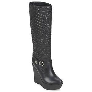 Versace Μπότες για την πόλη Versace DSL909R ΣΤΕΛΕΧΟΣ: Δέρμα & ΕΠΕΝΔΥΣΗ: Δέρμα & ΕΣ. ΣΟΛΑ: Δέρμα & ΕΞ. ΣΟΛΑ: Καουτσούκ  - Black - Size: 39,38 1/2