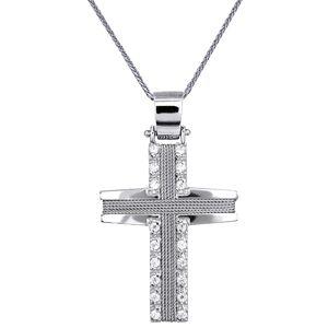 Βαπτιστικοί Σταυροί με Αλυσίδα ΣΤΑΥΡΟΙ ΒΑΠΤΙΣΗΣ ΓΙΑ ΚΟΡΙΤΣΙ C016571 016571C Γυναικείο Χρυσός 14 Καράτια
