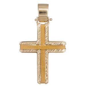 Σταυροί Βάπτισης - Αρραβώνα Χρυσός ανδρικός σταυρός Κ14 019290 019290 Ανδρικό Χρυσός 14 Καράτια